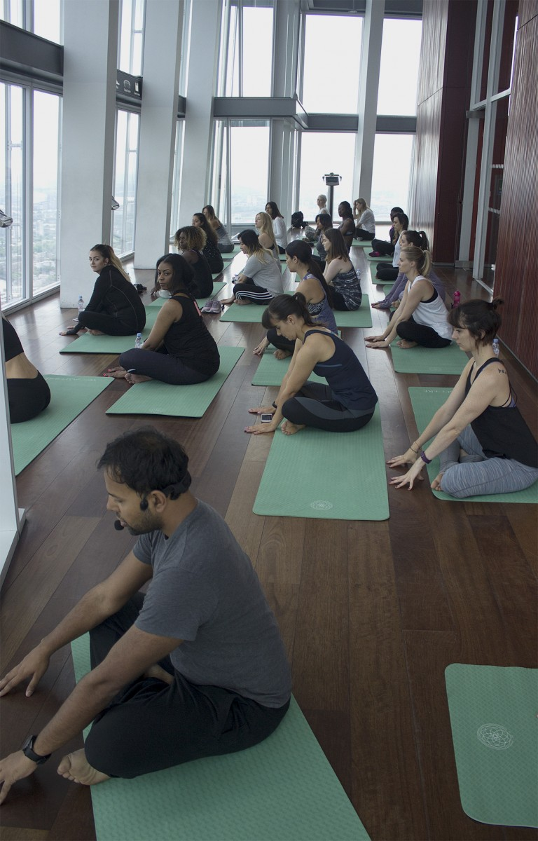 yoga at the shard
