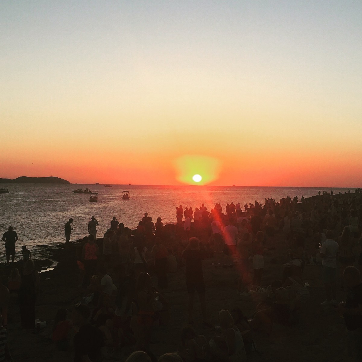 sunset, ibiza, spain, cafe mambo