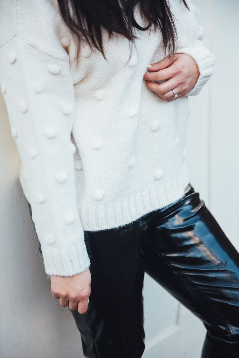 how to dress up pvc trousers