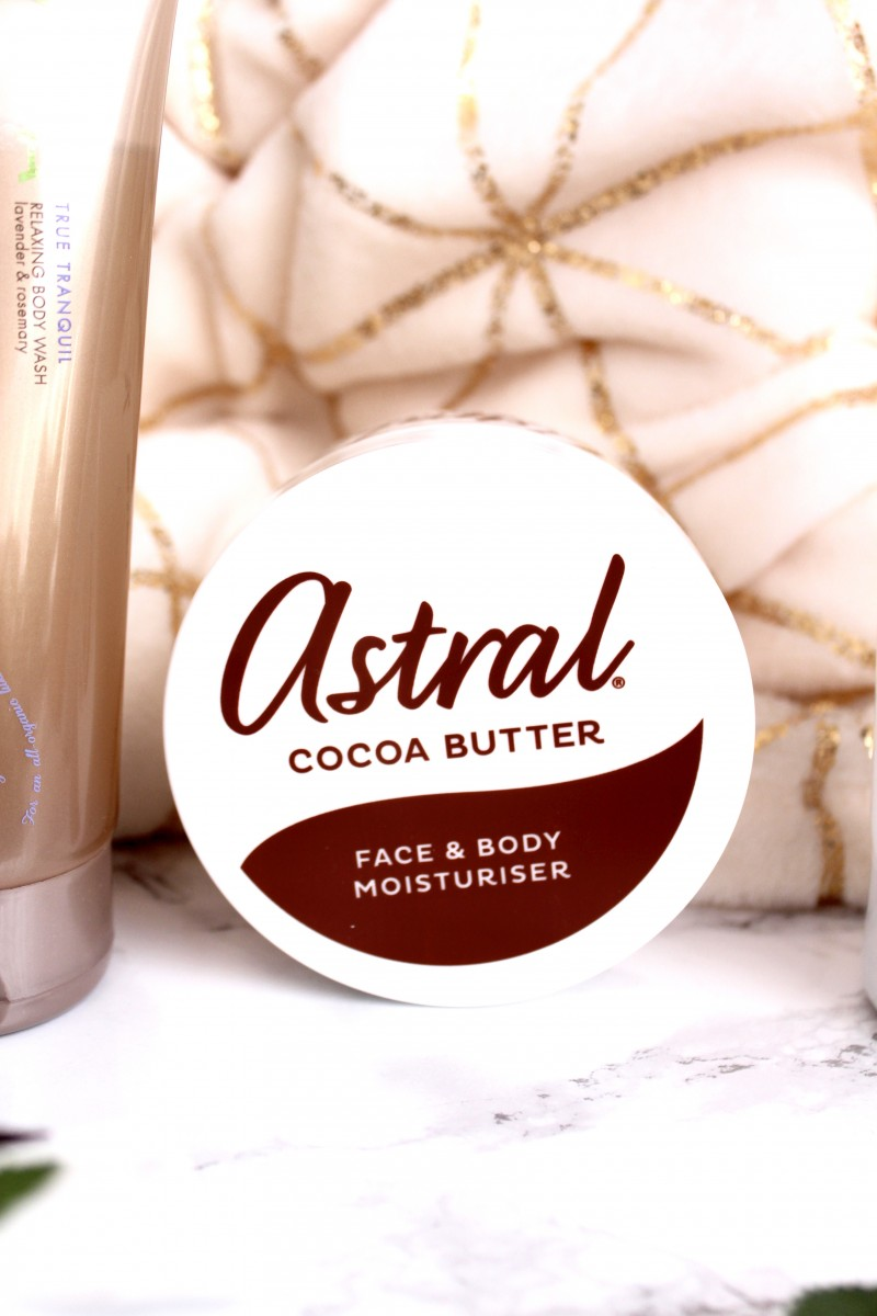 astral cocoa butter body lotion