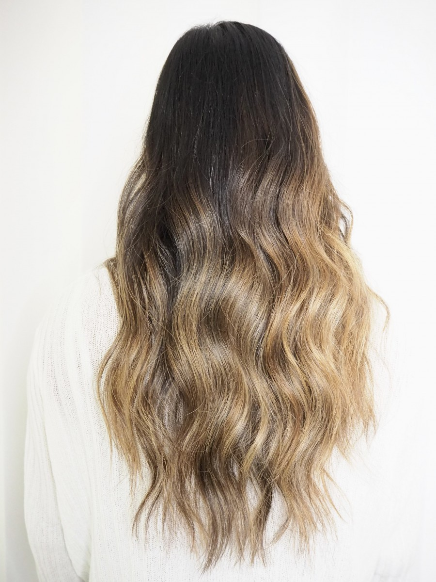 how to have balayage on dark hair