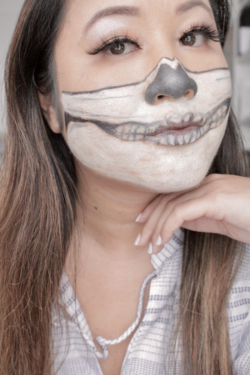 how to create a skeleton make up look